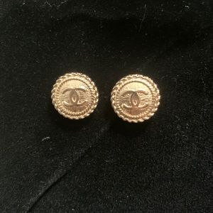 AUTHENTIC CHANEL STUD EARRINGS